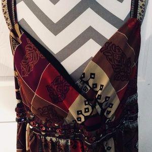 Lane Bryant Long Dress SZ 18 Lined Winter Colors